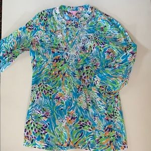Lilly print top